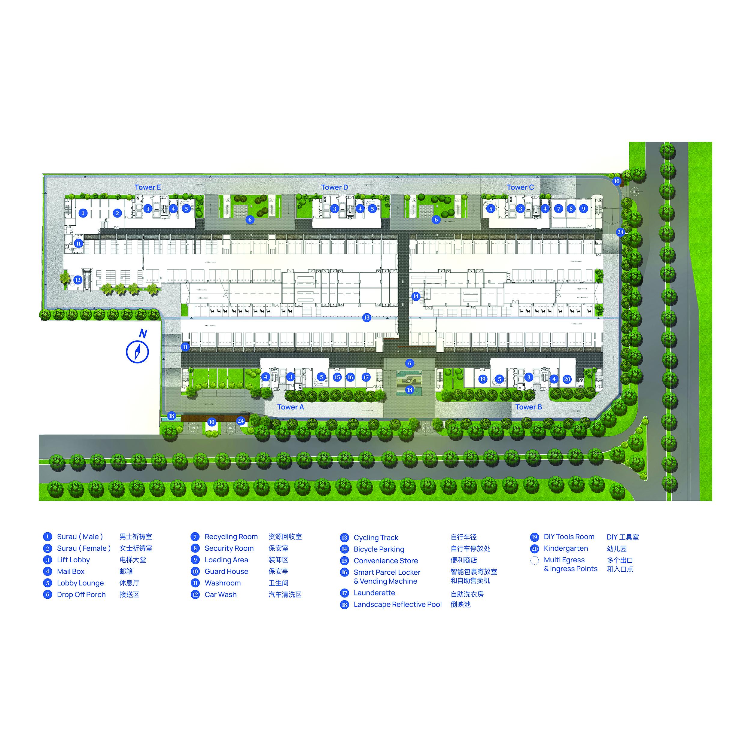 vertu resort - ground floor facility