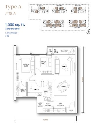 Vertu Resort - Floor Plan - Type A