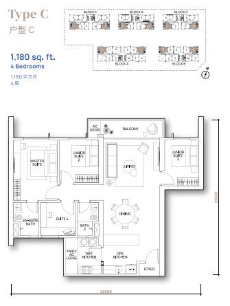 Vertu Resort - Floor Plan - Type C