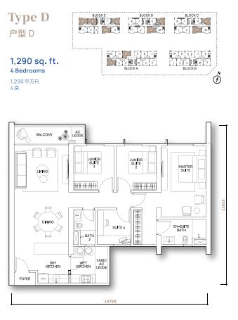 Vertu Resort - Floor Plan - Type D