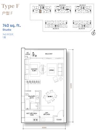 Vertu Resort - Floor Plan - Type F